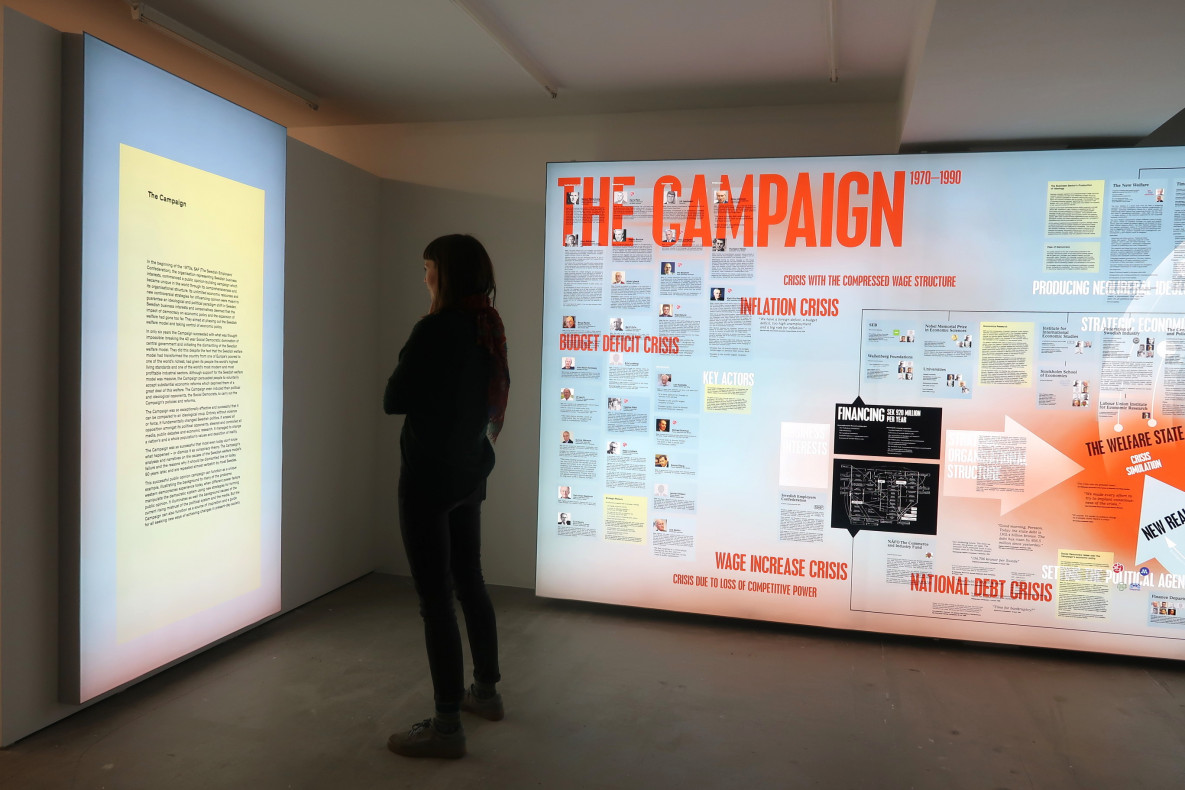 Installation view, The Campaign Text, Billboard 110 x 220 cm, Nathalie Gabrielsson